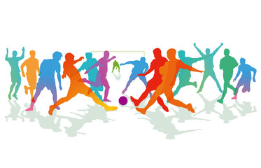 Fußballspiel, und Fußballer, illustration