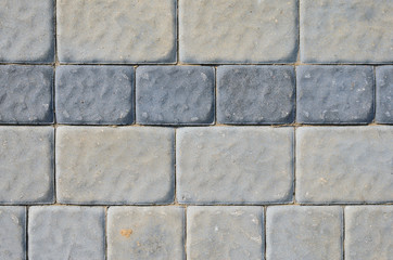 The Texture of the Gray Paving Stone from Artificial Stones. Gray Sidewalk Texture