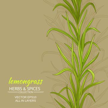 lemongrass vector background