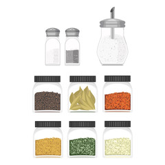 Ilustration of different type spices