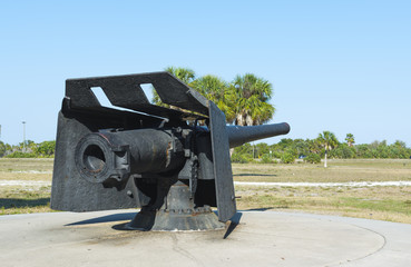 Restored weapon at Fort de Soto