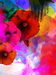 Floral artistic background