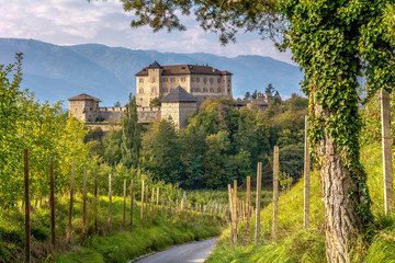 Castle Thun, Trentino Alto-Adige. The castle is located in the commune of Ton in the lower Val di Non, Trentino Alto Adige, Italy