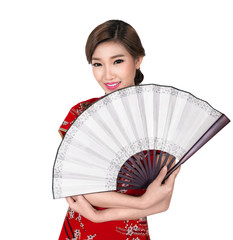 Chunese lady in chinese dress