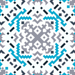 Tribal vector seamless pattern set. Northern fancy abstract geometric art print. Ethnic hipster backdrop. Wallpaper, cloth design, fabric, paper, cover, textile design template.