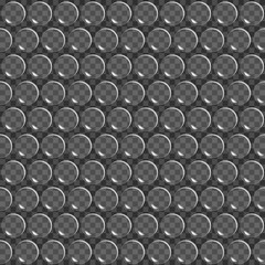 Background Air-bubble wrap film. Seamless pattern. Vector illustration