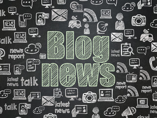 News concept: Blog News on School board background