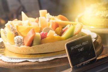 seasonal fruit tart