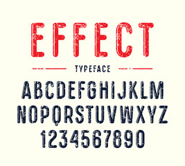 Decorative narrow sanserif font with rounded corners