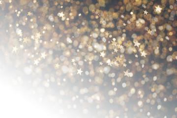 Bokeh Star Hintergrund golden Weihnachten