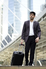 business prince from Middle East working on business trip