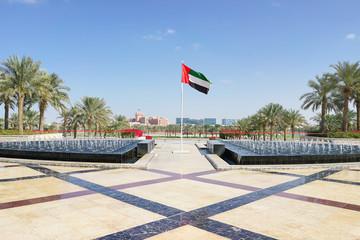 Flagge der Vereinigten Arabischen Emirate in Abu Dhabi
