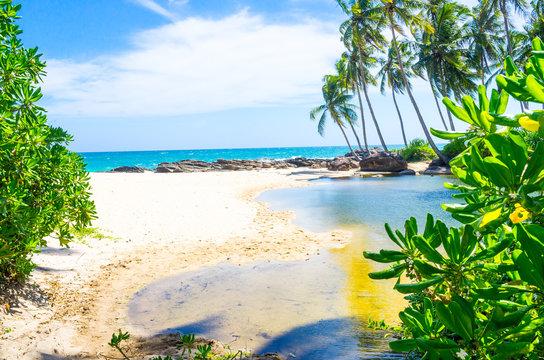 Bentota beach in Sri Lanka