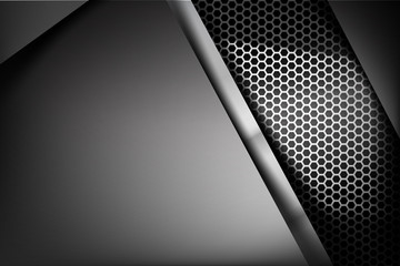 Metallic steel and honeycomb element background texture 006