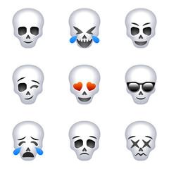 Skull set for Halloween