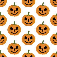 Jack-o-lantern pumpkin pattern