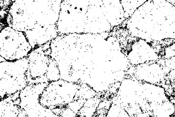 Subtle black halftone vector crack texture overlay. Monochrome abstract splattered white background. Dotted grain black and white gritty grunge backdrop. Dot and circle dirty effect.