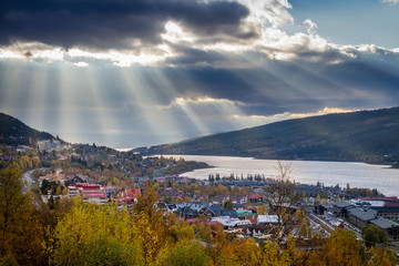Sunrays over Åre Sweden
