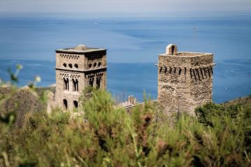 Two towers of Monasterio de Sant Pere de Rodes
