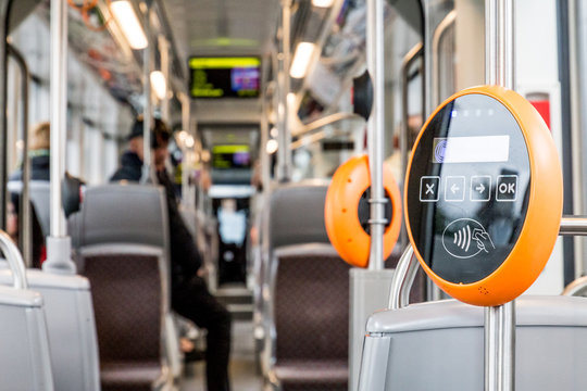 Public transportation wipe ticket validator