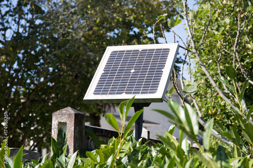 small solar photovoltaic panel for the electric gate door