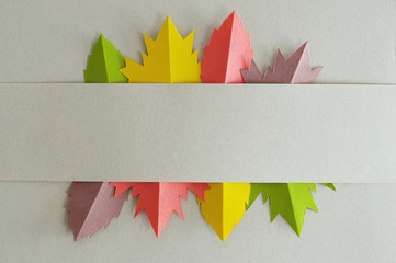 eight leaves horizontal template