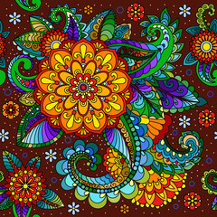 Asian seamless pattern. Paisley, turkish cucumber.
