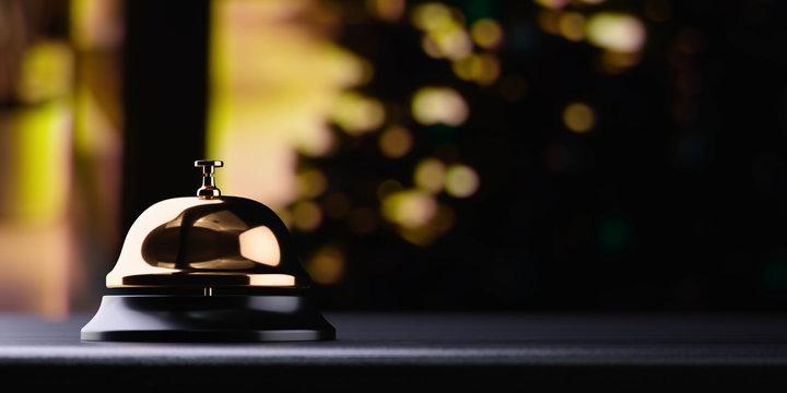 Reception bell golden