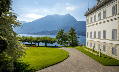 Villa at Como lake in Italy