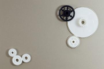 plastic gears background