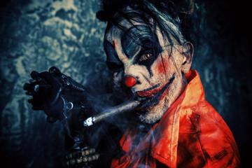 dirty zombie clown