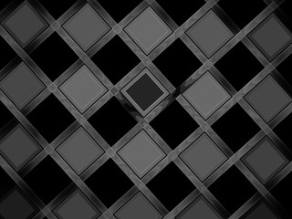 Gray rhombs on black