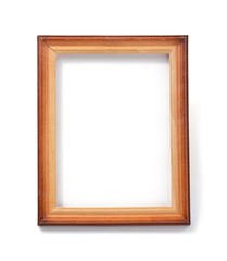photo picture frame isolated on white