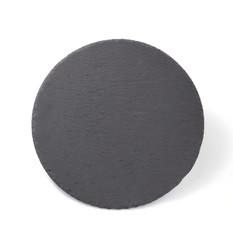 slate stone tray isolated on white