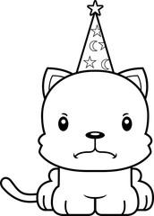 Cartoon Angry Wizard Kitten