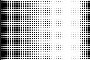 Halftone background. Pop art, comic style. Pattern with small squares.  Black and white color. Vector illustration