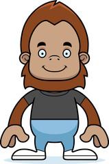 Cartoon Smiling Sasquatch