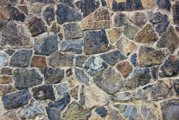 Stone Wall with Random Tiled Pattern. Background and Texture for text or image