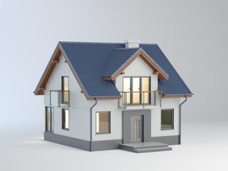 Single-family house illustration