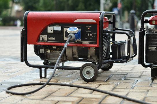 electric generator on city street
