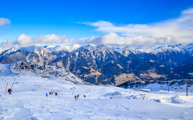 On the slopes of the ski resort Bad Gasteinl, Austria