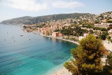 Fond de hotte en verre imprimé Nice Panoramique sur Villefranche-sur-Mer (Alpes-Maritimes)