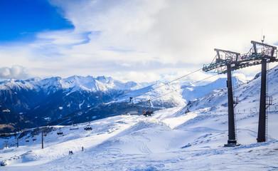 Ski lift.  Ski resort Bad Gasteinl, Austria