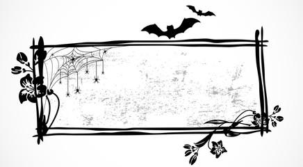 Black Halloween banner