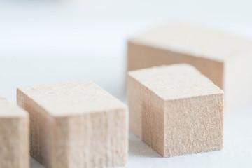 Architektur Arbeitsmodell aus Holz im Detail