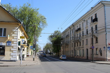 """Old buildings in the post-war area """"Osmolovka"""""""
