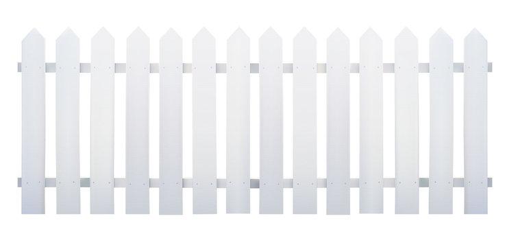 Wooden fence white - Vector illustration