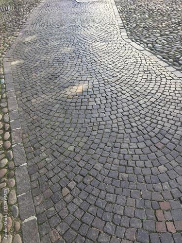 strada città pavimentazione ciottoli marciapiede, sampietrini scale ...