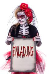 Einladung Sugar Skull