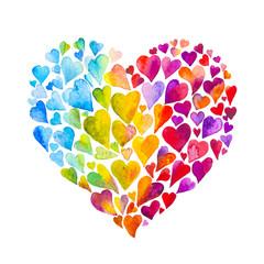 cuore acquerello amore